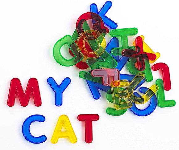 Edx Education 75114 Transparent Letters Set, Translucent Colours, Red, Green, Blue, Yellow