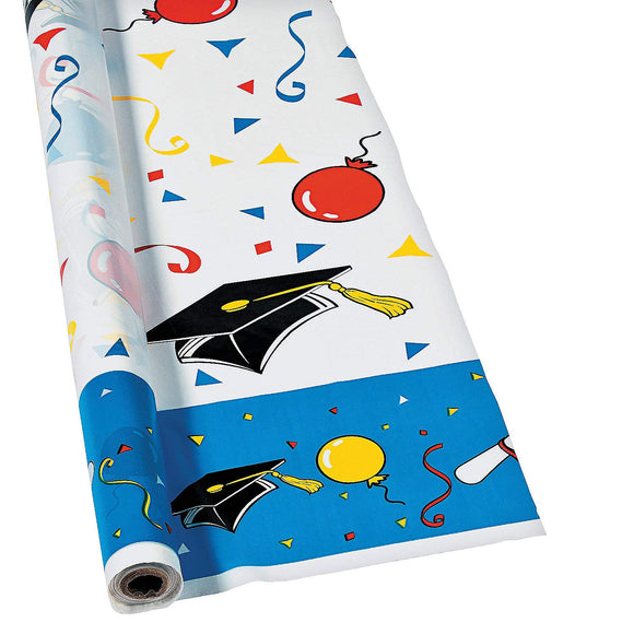 Fun Express - Graduation Banquet Roll For Graduation - Party Supplies - Table Covers - Print Table Rolls - Graduation - 1 Piece