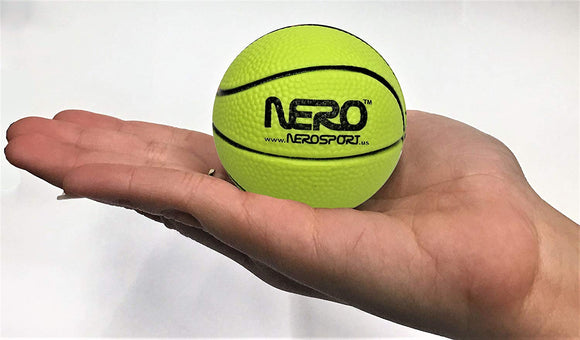 Nero Ns-Rs High Bounce Rubber Mini Basketball 2.5 Inch Great For The Streets Park Back Yard Bulk Price (Yellow)