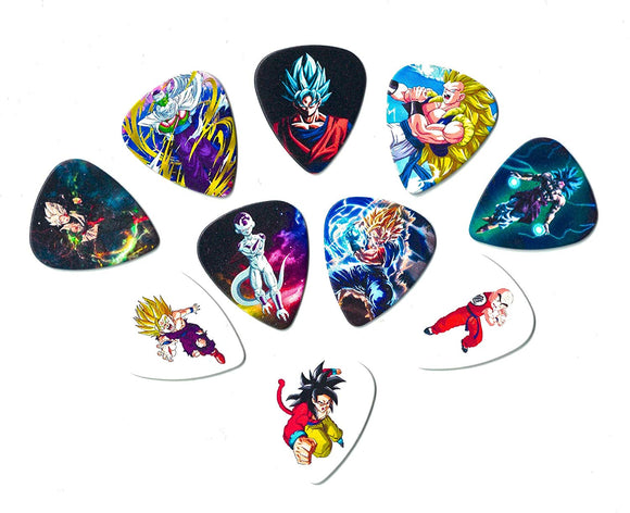 Dragon Ball Z Guitar Picks(10 Medium Picks In A Packet) [Perfect Gift For Dbz Lovers] [0.71Mm]
