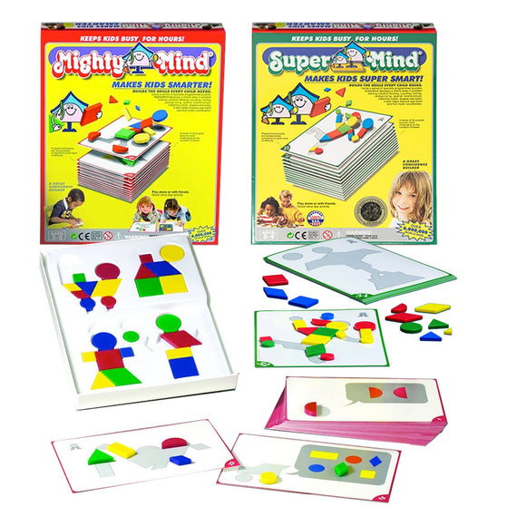 Mighty Mind Set Of 2 Learning Puzzle Games And A Bonus Bag And Super Mind And A Bonus Bag