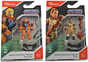 Mega Construx Heroes Series 2 Masters Of The Universe: Beast Man And Teela Bundle