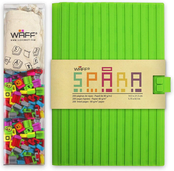 Waff, Customizable Spara Notebook / Journal Combo, Large, 5.75