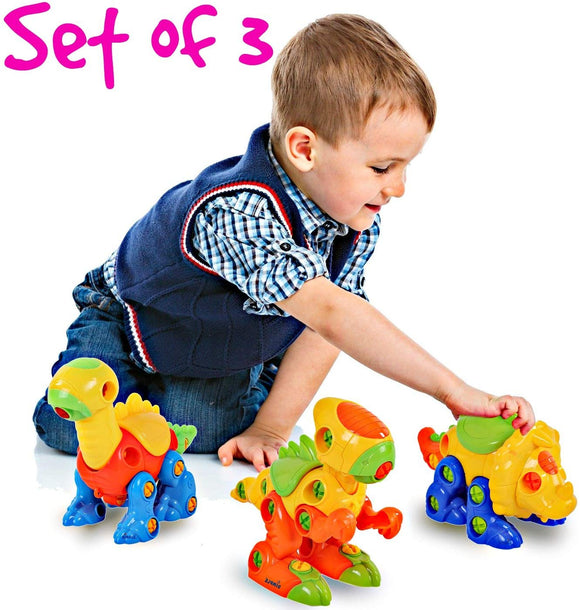 Dinosaur Take Apart Toy Set For Kids By Dimple - Premium Educational Build Your Own Dino Toys, (106 Pieces) Top Construction Toy For Boys Girls & Toddlers, Great For Children