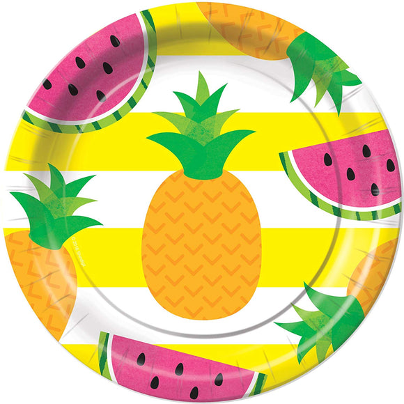 Tutti Frutti Tropical Fruit Dessert Plates Party Tableware Supplies Decorations