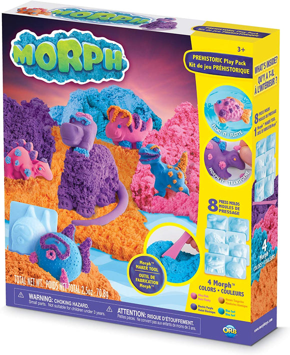 The Orb Factory Morph Prehistoric Compound Playset, Pink/Purple/Orange/Blue, 10