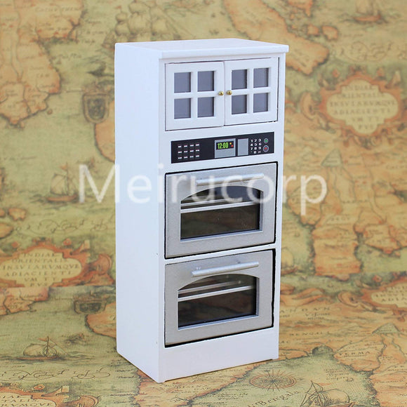 Meirucorp Dollhouse Miniature 1/12 Scale Kitchen Furniture Appliance Disinfection Cabinet
