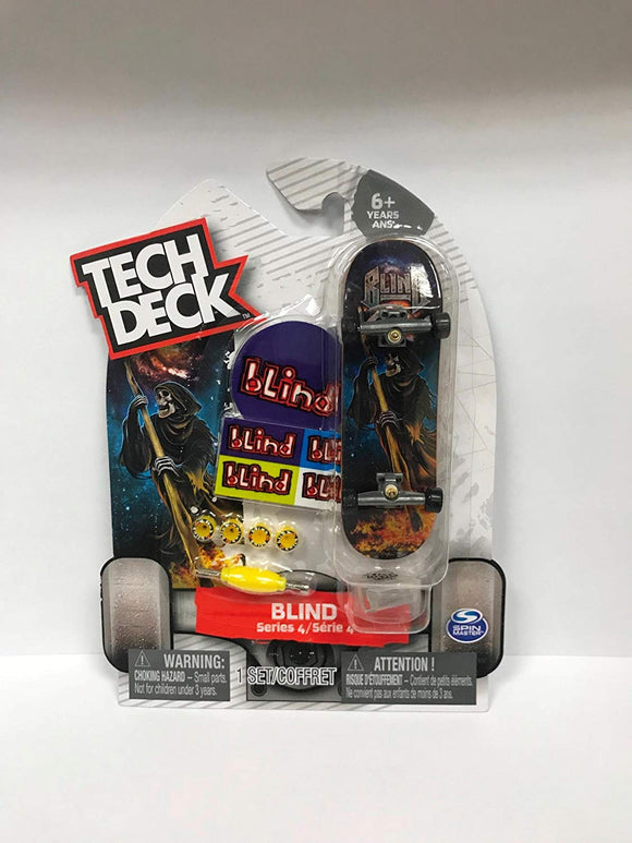 Tech Deck Blind Series 4 Reaper W Flames Fingerboard Skateboarding Toy Rare