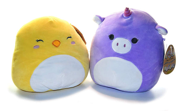 Squishmallows Baby Stuffed Animal Toy With Rattle -8 Inch Mia The Baby Unicorn And Ava The Baby Chick