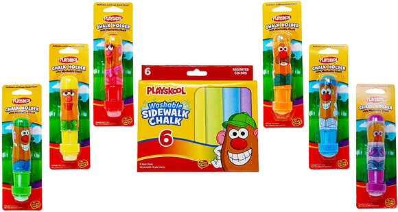 Playskool Mr And Mrs Potato Head Chalk Holders  With Refills Bundle