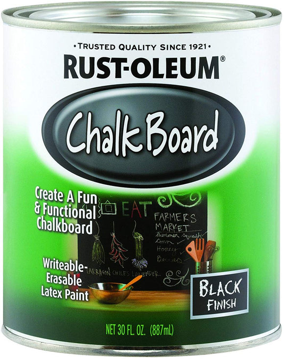 Rustoleum 206540 1 Quart Black Chalk Board Paint
