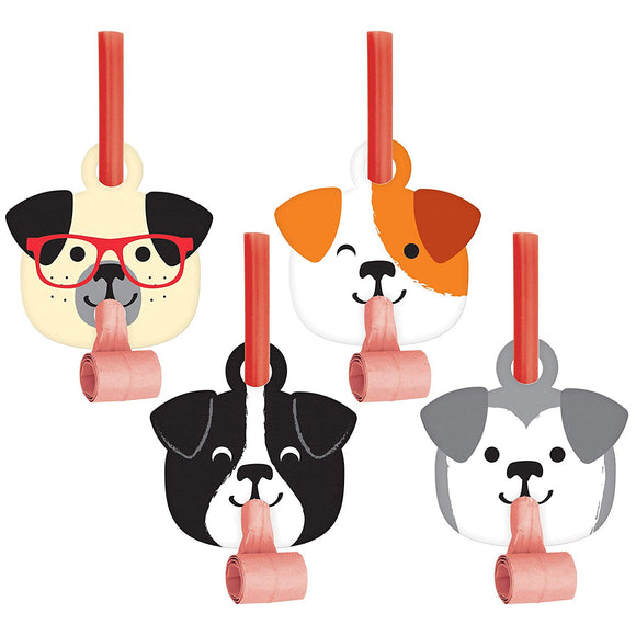 Creative Converting 336660 Dog Party Noise Maker, 1X2.55X5.25Inc, Multicolor