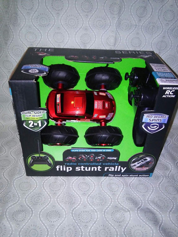 Merchsource The Black Series Radio Controlled Flip Stunt Rally (2 Cars In 1)