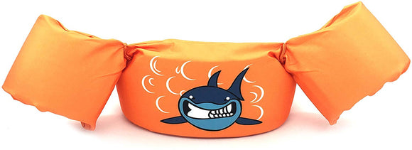 Silfrae Swim Vests Swim Floatation Vest Learn-To-Swim Device Weighing From 30 To 50 Lbs (Orangeshark)