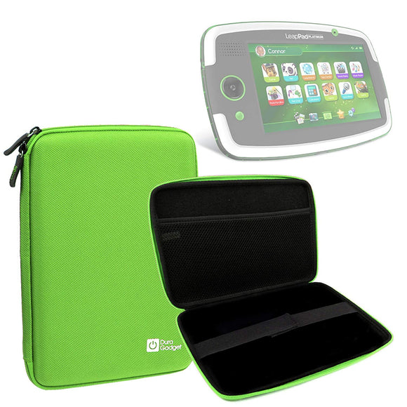 Duragadget Lime Green Tough Hard Case For Leapfrog Leappad Platinum/Leappad Ultra/Leappad Ultra Xdi/Leappad Glo With Soft Inner Lining & Netted Pocket