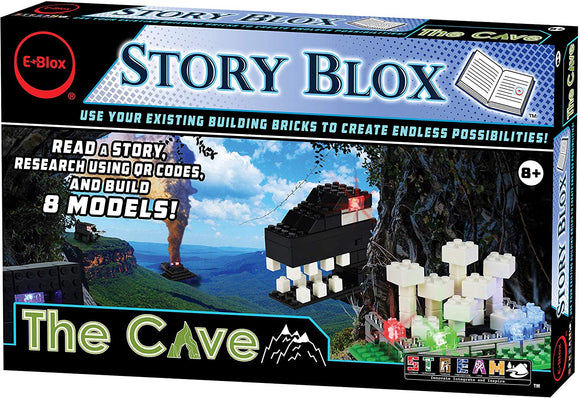 E-Blox Stories Blox Builder - The Cave Led Light-Up Building Blocks Stories Toy Set For Kids Ages 8+