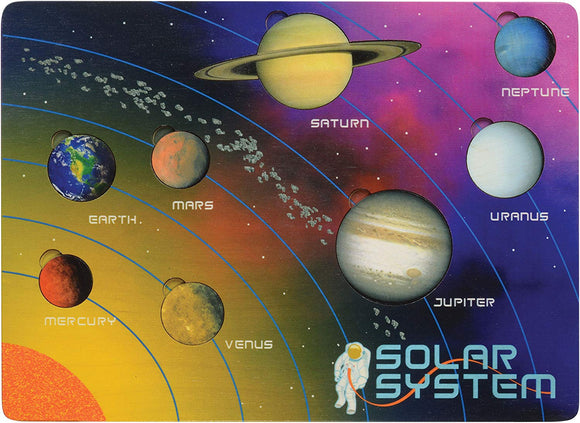 Lift And Learn Solar System Puzzle - Made In Usa