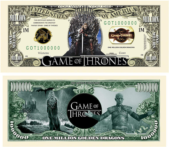 American Art Classics Limited Edition Game Of Thrones | Got | Collectible Novelty Bill In Currency Holder
