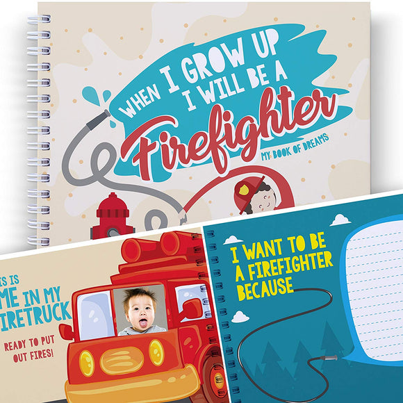 Firefighter Activity Book For Kids: When I Grow Up I Will Be A Fireman Or Firewoman - Gifts For Kids, School Art Activity, Presents For Children, Boys And Girls, Back To School Book.