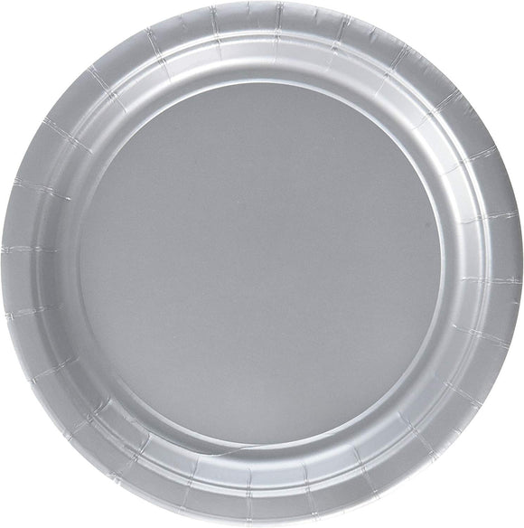 Amscan Silver Paper Plate Big Party Pack, 6 Pks.