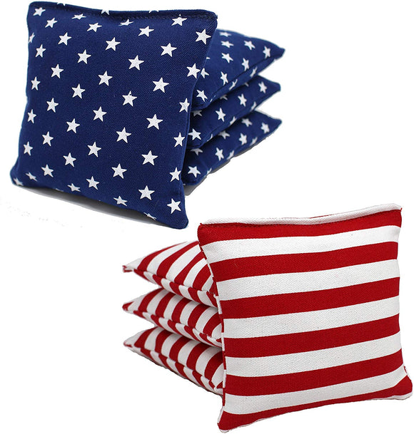 Free Donkey Sports Aca Regulation Cornhole Bags(25 Colors To Choose From) (Stars/Stripes)