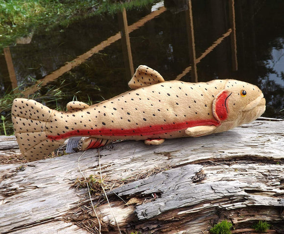 Cabin Critters Cutthroat Trout Plush Toy Fish - 17