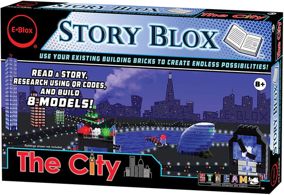 E-Blox Stories Blox Builder - The City Led Light-Up Building Blocks Stories Toy Set For Kids Ages 8+