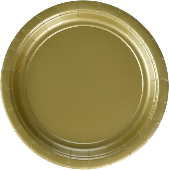 Gold Round Paper Plates | 7