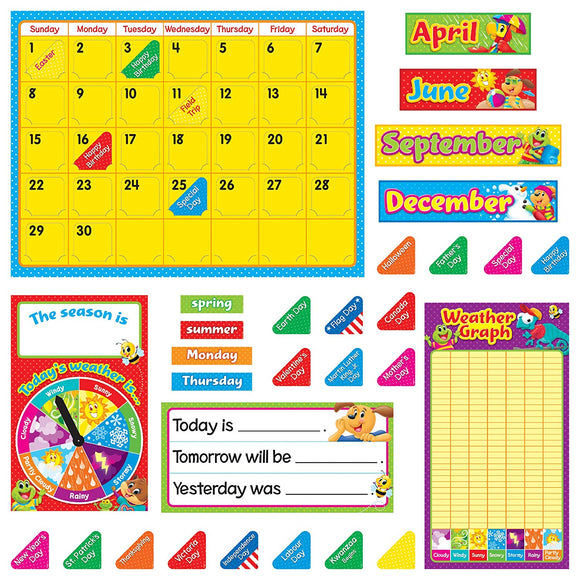 Trend Enterprises, Inc. T-8420 Playtime Pals Calendar Bulletin Board Set