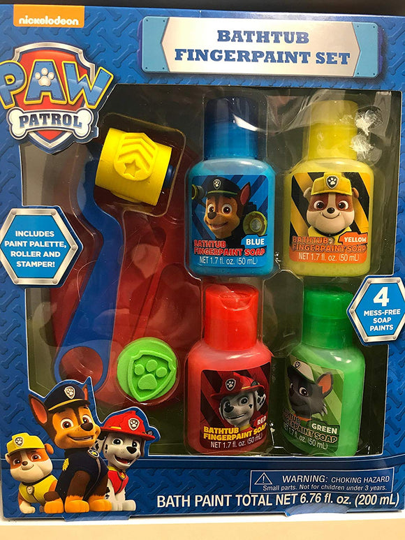 Nickelodeon Paw Patrol Bathtub Fingerpaint Set