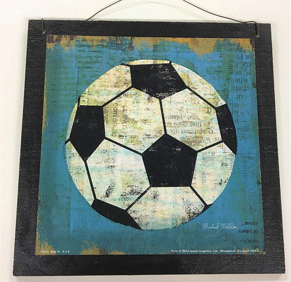 Soccer Sports Wall Art Sign Boys Bedroom Decor Decorations