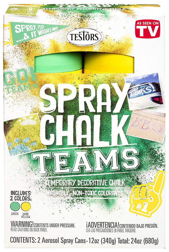 Testors 334335 Spray Chalks Teams, Green/Dark Yellow