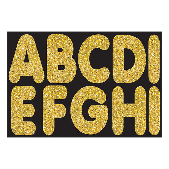 Ashley Productions Sparkle Magnetic Uppercase Letters (57 Piece), Gold, 2 3/4