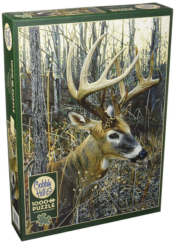 Cobblehill 80134 1000 Pc White-Tailed Deer Puzzle, Various