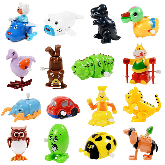 Wind Up Toy,Assorted Clockwork Toy Set(Contents And Color May Vary),Original Color Wind Up Animal Party Favors Toy Great Gift For Boys Girls Kids Toddlers