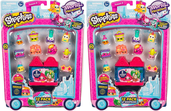 Shopkins  12 Season 8 Americas World Vacation Toy Bundled By Maven Gifts