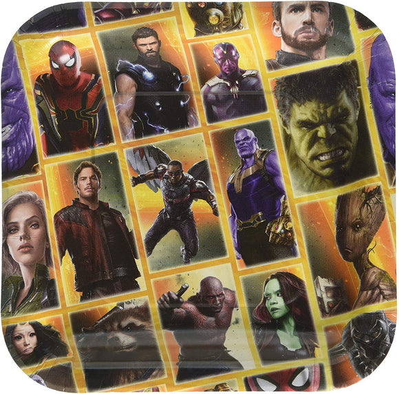American Greetings Avengers: Infinity War Paper Dessert Plates, 8-Count