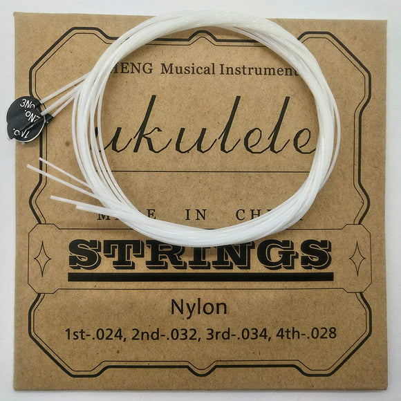 Nylon Ukulele Strings Tuning Replacement 4 Strings For Musical Instruments Easy For Beginners Easy On Fingertips For General Ukulele Sweet Sound