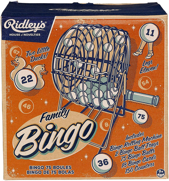 Ridley'S | Bingo Set | Includes Rolling Machine | 75 Bingo Balls