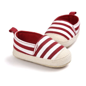Blue Striped Soft Sole Toddler Baby Shoes - BabyCenter