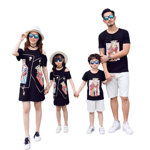 Poker Face Strapless Family Matching T-Shirt - BabyCenter