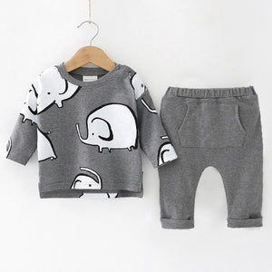 O-Neck Polyester Cotton Baby Clothes Set - BabyCenter