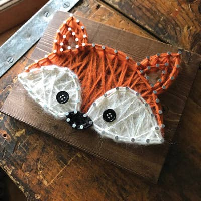 Fox Mini String Art Kit - DIY