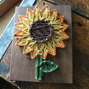 Sunflower Mini String Art Kit - DIY