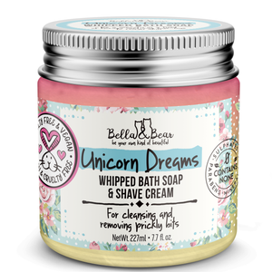 6.7oz Unicorn Dreams Whipped Bath Soap & Shave Cream