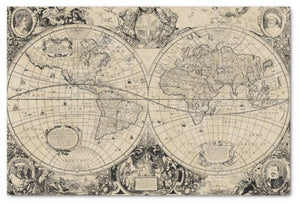 Vintage Old World Map Decoupage Sheet