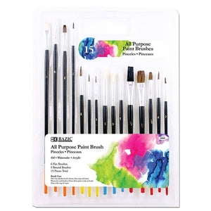 All Purpose Paint Brush - Pack of 15