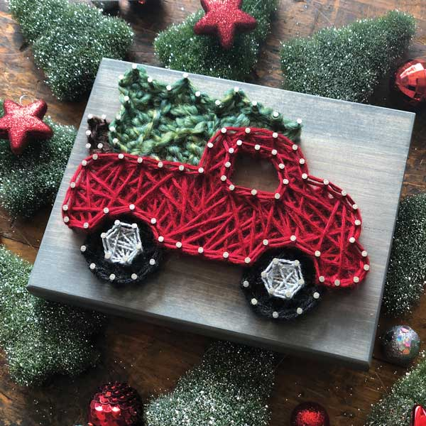 Christmas Truck Mini String Art Kit - DIY