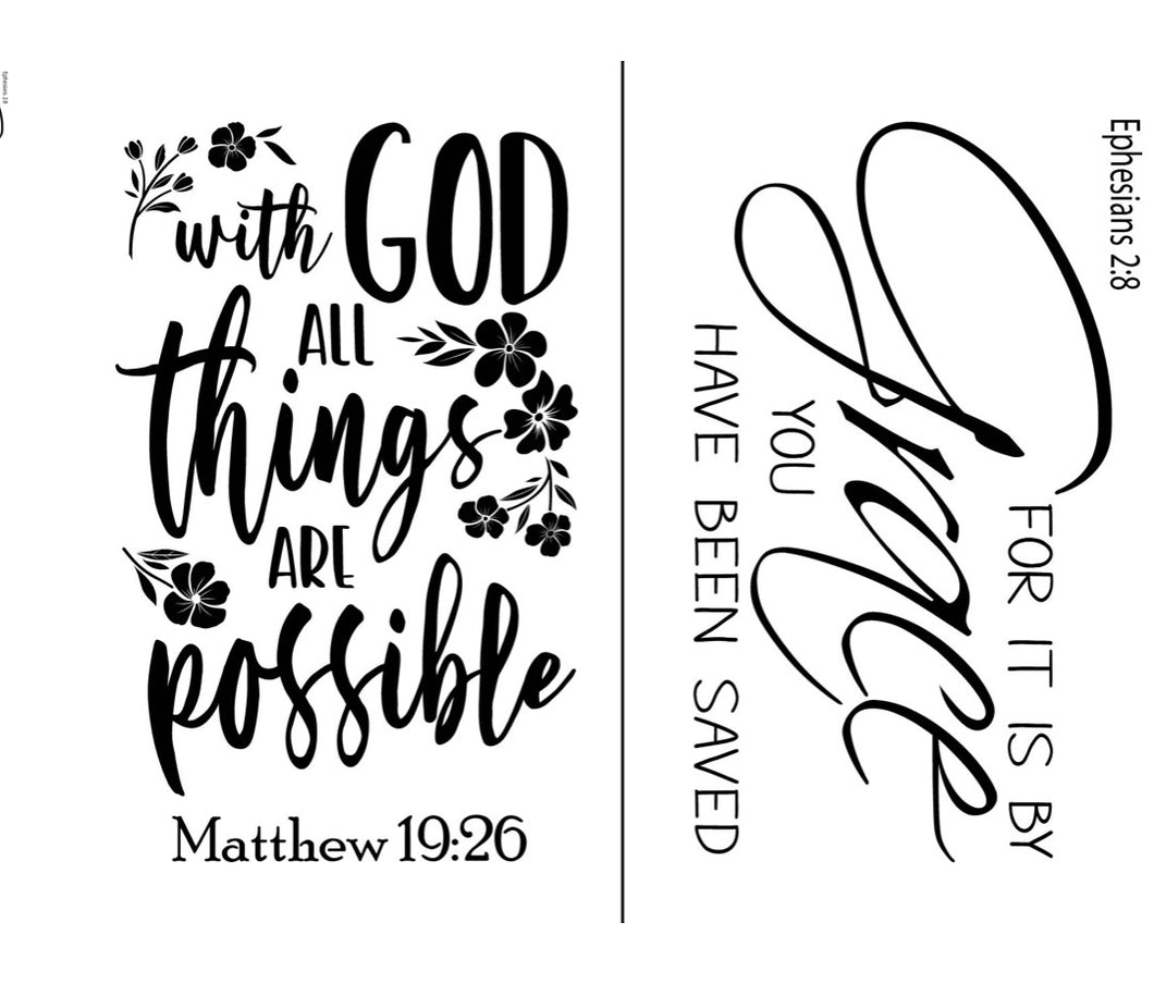 All Things Are Possible - Magnolia Design Company Silkscreen Stencil