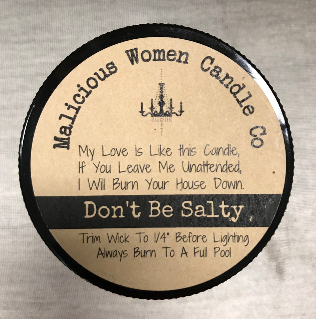 Don't be Salty Candle: Mermaids don't have a thigh gap.